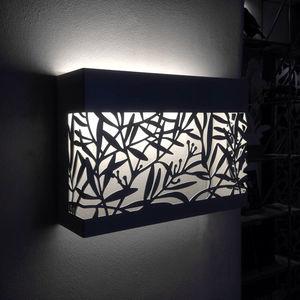 moderne Wandleuchte / Aluminium / LED / rechteckig