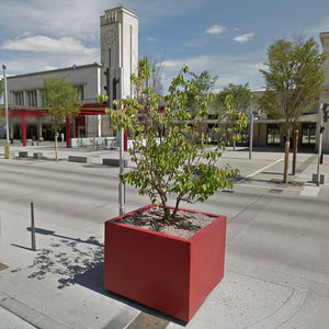Pflanzkübel für Orangerie / Metall / für öffentliche Bereiche