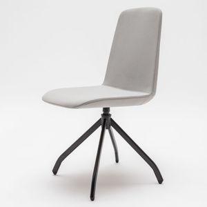 moderner Stuhl / Polster / mit Armlehnen / Stapel
