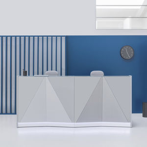 modulare Empfangstheke / Glas / Melamin / beleuchtet