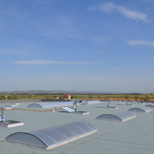 Polycarbonat-Dachverglasung / Aluminium