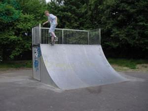 Quarterpipe für Skatepark