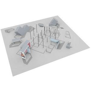 Trimm-Dich-Pfad / für Spielplätze / für Sportanlagen