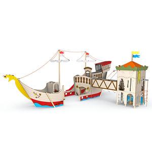 Spielplatzgerät für Spielplätze / für öffentliche Räume / für Kindergarten / Holz