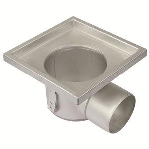Edelstahl-Bodenablauf / für Industrieanwendung / quadratisch
