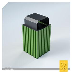 Aluminium-Papierkorb