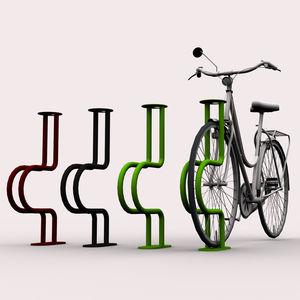 Fahrradständer / verzinkter Stahl / aus lackiertem Stahl / Objektmöbel / vertikal