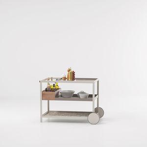 Garten-Serviertisch / für Hotelzimmer / für Privatgebrauch / Metall