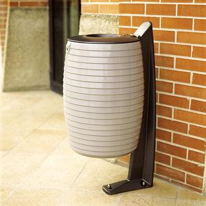 Park-Abfallbehälter / auf Beinen / Polyester / Aluminiumguss