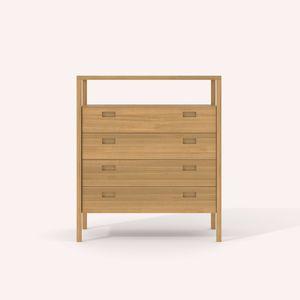 moderner Chiffonnier / Holz / beige