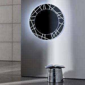 wandmontierter Spiegel / LED beleuchtet / modern / rechteckig