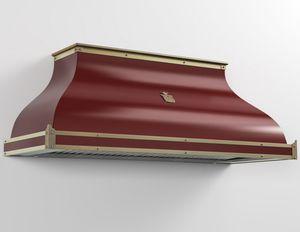 wandmontierter Dunstabzug / mit integrierter Beleuchtung / Profi