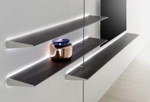 wandmontiertes Regalsystem / modern / Metall / aus MDF