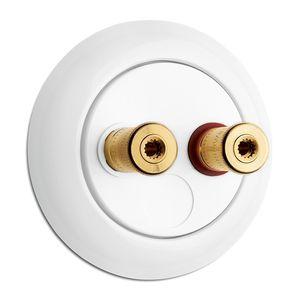 Lautsprecher-Steckdose / doppelt / wandmontiert / Porzellan