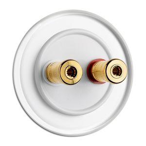 Lautsprecher-Steckdose / doppelt / wandmontiert / aus Duroplast