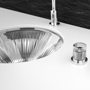 Einbauwaschbecken / rund / Kristall / Stil