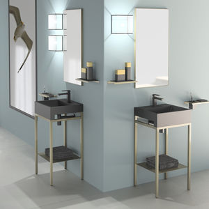 freistehender Waschtisch-Unterschrank / Metall / VetroFreddo® / modern