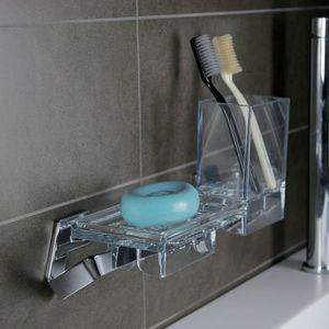 wandmontierter Seifenhalter / ABS / Polycarbonat / Zahnbürstenhalter