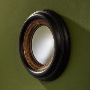 wandmontierter Spiegel / klassisch / rund / Holz