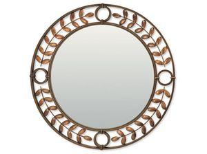 wandmontierter Spiegel / klassisch / rund / Metall