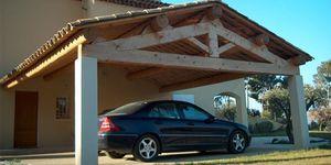 Holz-Dachstuhl / massiv / für Carport
