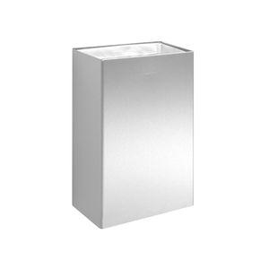 Badezimmer-Abfallbehälter / wandmontiert / Edelstahl / Polypropylen