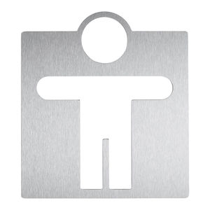 Tür-Piktogramm / Edelstahl