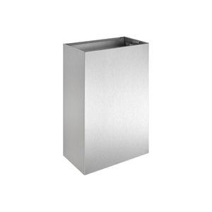 wandmontierter Abfallbehälter / hängend / Edelstahl / gebürsteter Edelstahl
