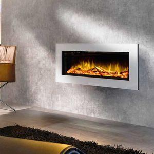 Elektrokamin / modern / geschlossene Feuerstelle / Einbau