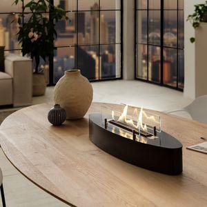 ovale Bioethanol-Brennkammer / Tisch
