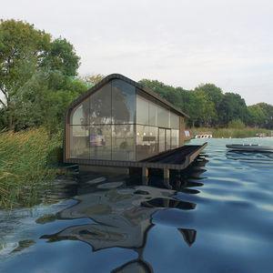 schwimmendes Gebäude