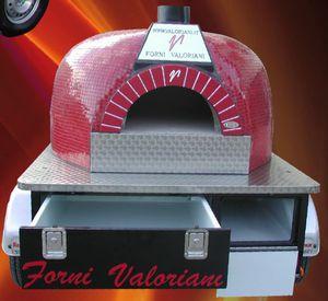 Profi-Pizzaofen / Holz / freistehend / 1 Kammer