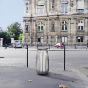 Park-Abfallbehälter / Stahl / Antiterror / modern