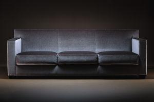 modernes Sofa / Stoff / Leder / aus Eiche