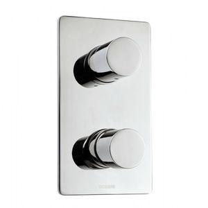 Einhebelmischer für Duschen / wandmontiert / Metall / thermostatisch
