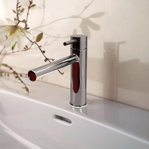 Einhebelmischer für Waschtisch / verchromtes Metall / mit Swarovski® Kristall / mechanisch