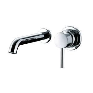 Einhebelmischer für Waschtisch / wandmontiert / verchromtes Metall / für Badezimmer