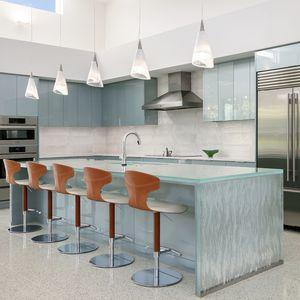 Glasarbeitsplatte / für Küchen / hitzebeständig / fleckenabweisend