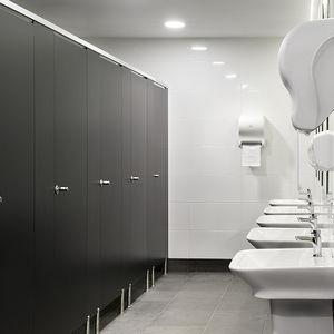 Sanitärkabine für Toilette / Laminat / HPL / Aluminium / Edelstahl
