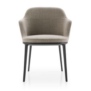 moderner Stuhl / Polster / mit Armlehnen / drehbar