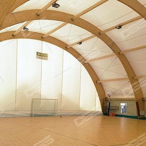 Holzstrukturen-Flächentragwerk / für Dächer / PVC-Folie / für öffentliche Bereiche