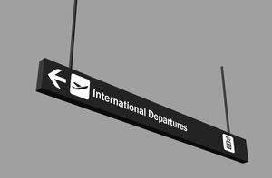 Orientations-Schild
