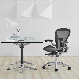 moderner Bürosessel / Maschen / Metall / mit Rollen