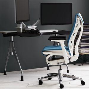 moderner Bürosessel / Stoff / mit Rollen / sternförmiger Fuß