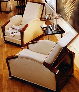 Sessel / Art Deco / Stoff / von Pierre Chareau