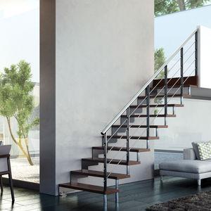 gerade Treppe / viertelgewendelt / halbgewendelt / Stahlstruktur