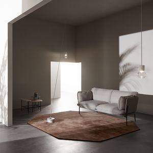 modernes Sofa / Stahl / Stoff / von Luca Nichetto