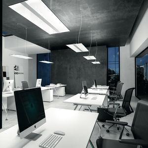 Hängeleuchte / LED / rechteckig / extrudiertes Aluminium