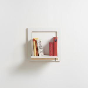 wandmontiertes Regal / Modul / skandinavisches Design / aus Birke