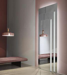 wandmontierter Spiegel / beleuchtet / modern / rechteckig